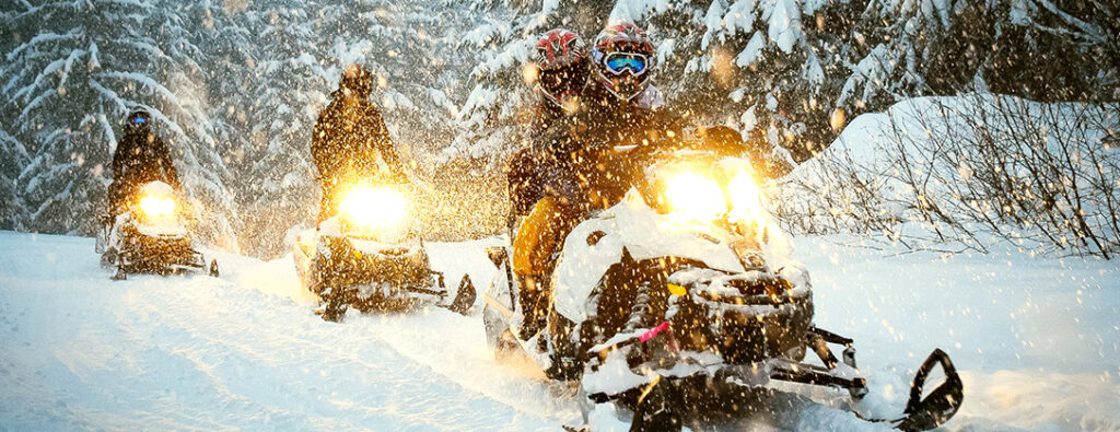 Go on a snowmobile adventure, or take an evening trip to Crystal Lodge to enjoy fondue on the mountain!